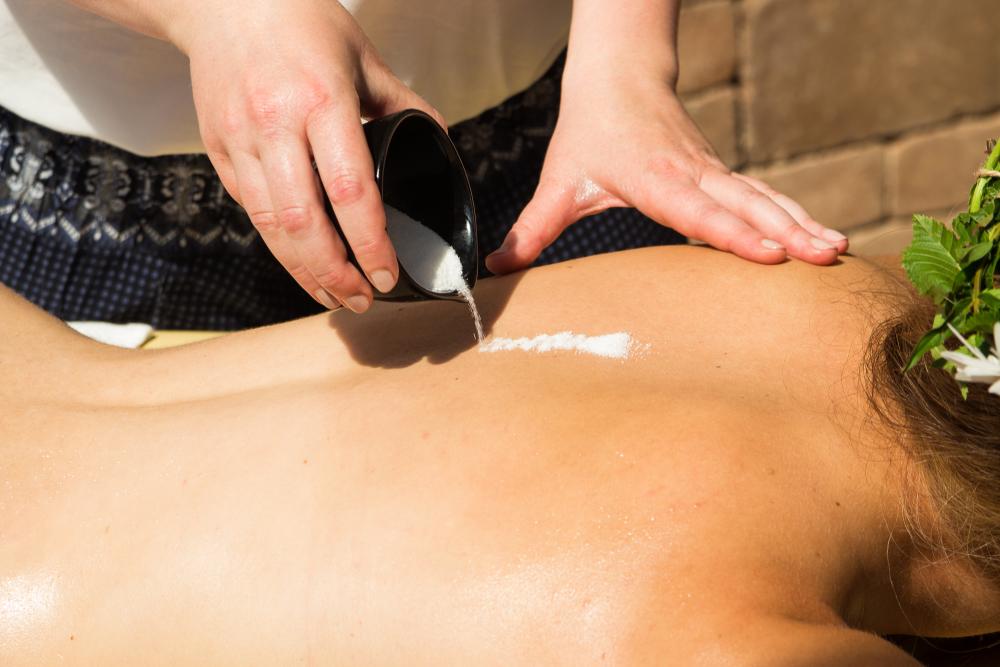 Solno-olejová masáž